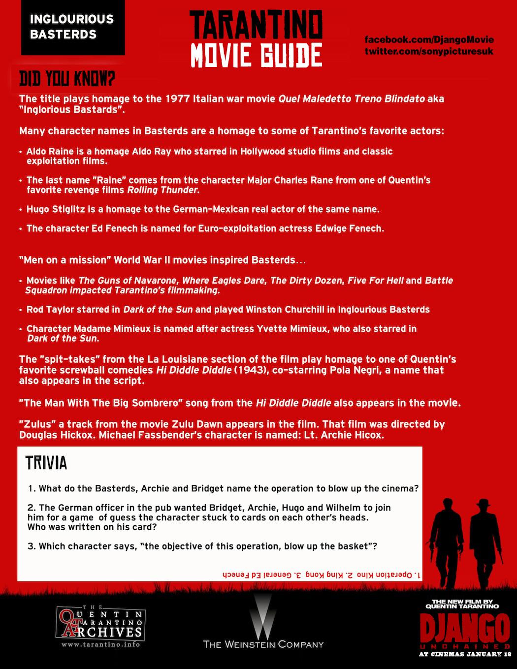 Tarantino Movie Guide - Inglourious Basterds