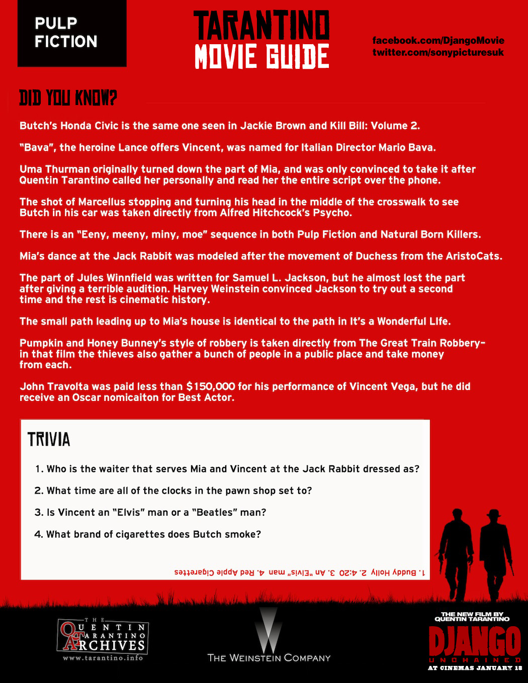 Tarantino Movie Guide - Pulp Fiction