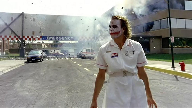 Dark Knight Heath Ledger Explosion