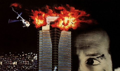 part of the Die Hard Poster with explosions