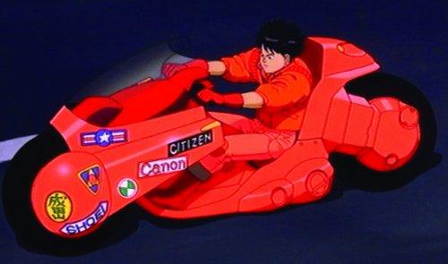 Kaneda on his bike