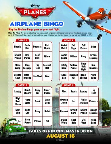 Plane BINGO card