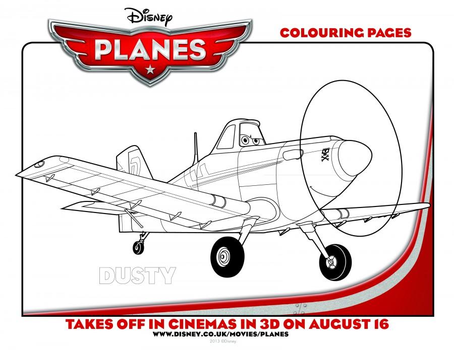 Disney Planes Coloring Pages Bulldog