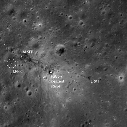 Apollo 15 on the moon