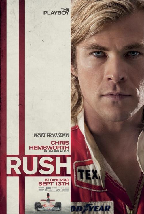 Rush character poster - Chris Hemsworth as James Hunt