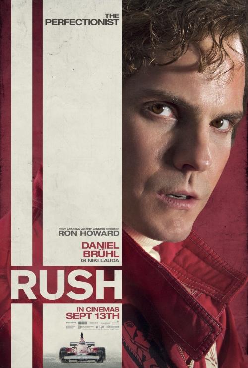 Rush character poster - Daniel Brühl as  Niki Lauda