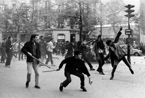 Students rioting in Paris