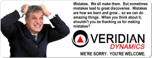 Veridian Dynamics are sorry