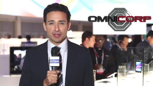 Audience reaction to OmniCorp's CES keynote