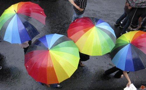 Atheists hiding under Gay Rain?