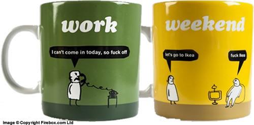 Work & Weekend Mugs
