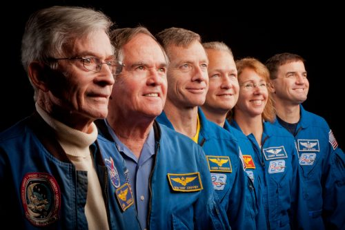 Bookends to the shuttle program. From STS-1 to STS-135