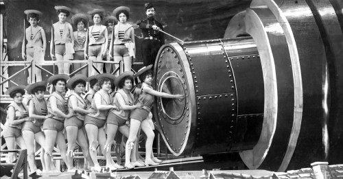 Girls loading the rocket