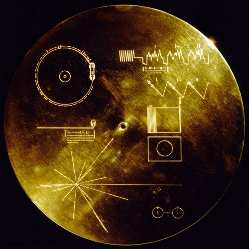 The cover of Voyager's Colden Record