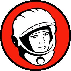 Yuri's Night logo - celebrating the anniversary of man in space