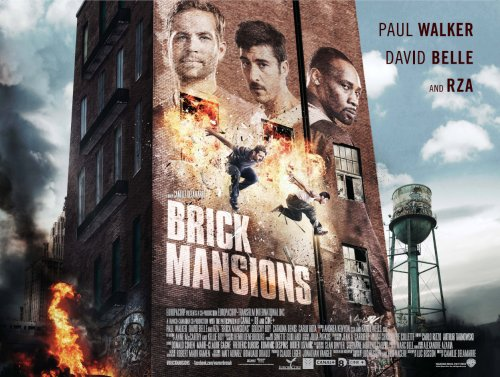 English remake of district 13 Brick Mansions Poster