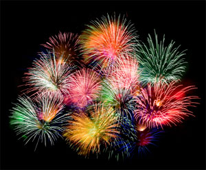 Fireworks for a milestone