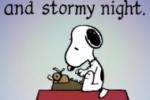 It was a dark & stormy start