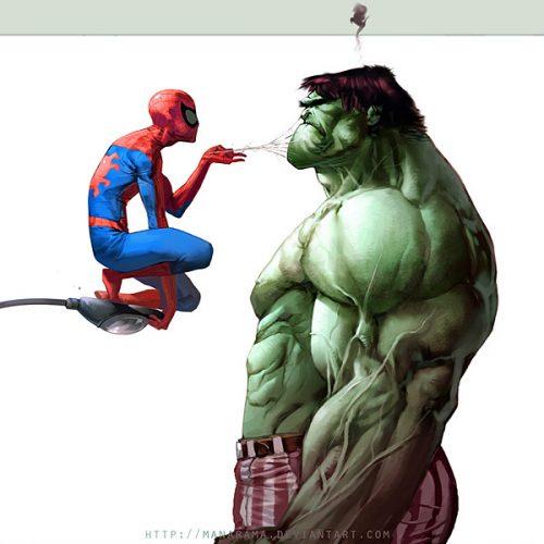 Spidey-vs-Hulk-manarama