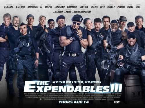 expendables 3 quad poster