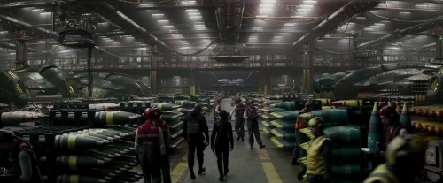 The Hunger Games - Mockingjay - Part 1 - bombs awaiting