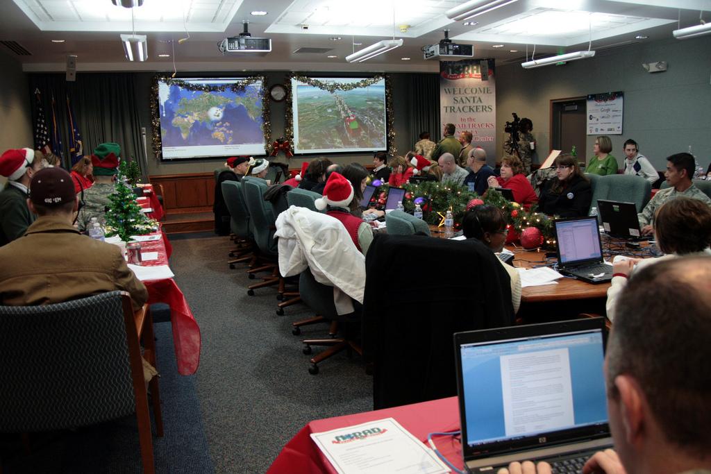 NORAD Santa tracking volunteers