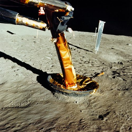 Contact probe on the moon