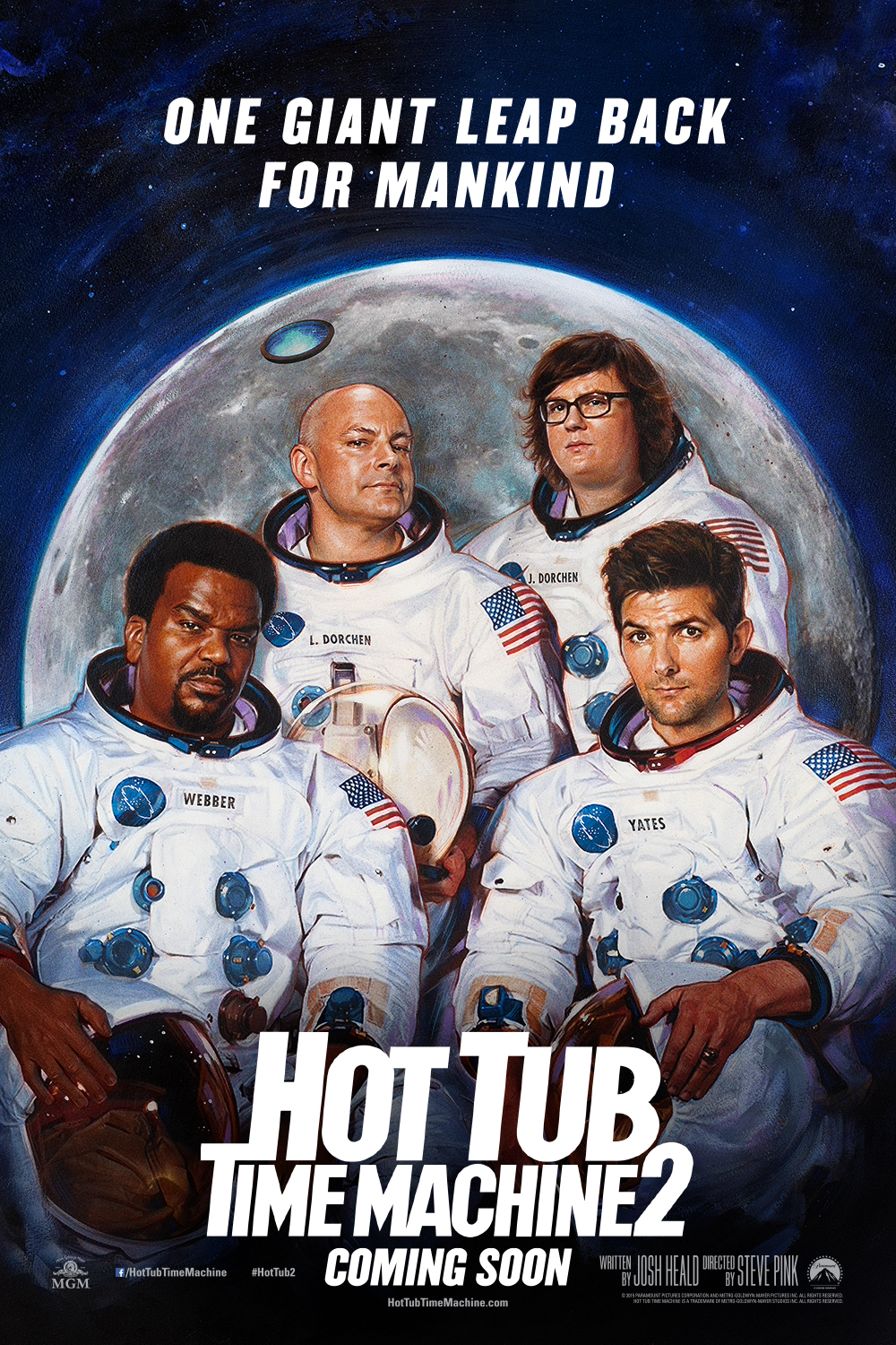 The Hot Tub Time Machine Space poster