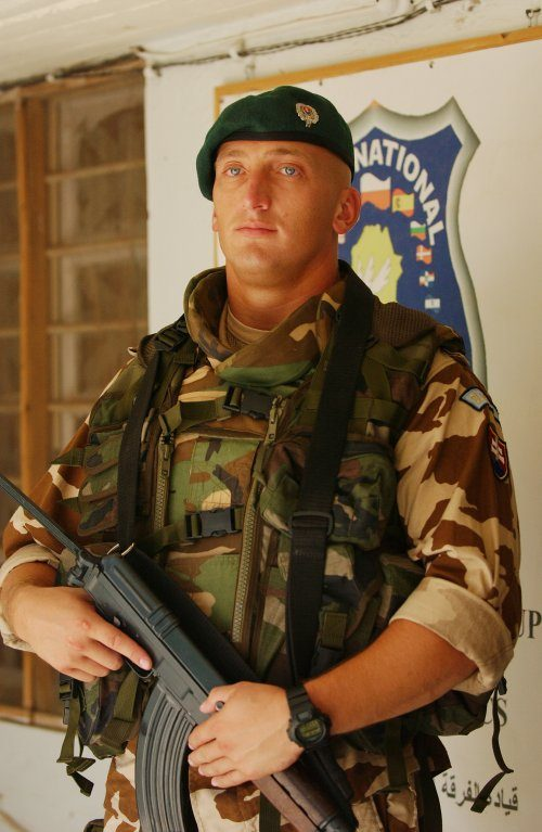 A Slovakian army soldier - Just don't worry about that as nobody will notice