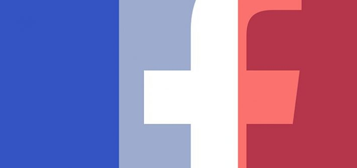 Flags flying over Facebook