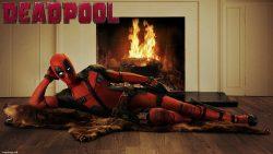 Deadpool fireplace wallpaper