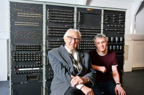 Dr Raymond Bird and Delwyn Holroyd.