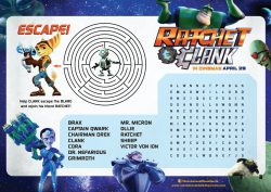 Ratchet and Clank Activity Sheet