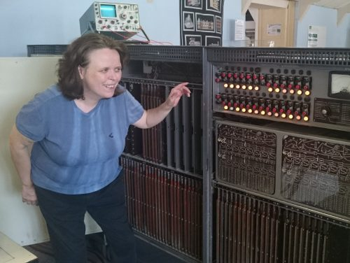 Sarah Eagleston of Sutton Coldfield inspects the Elliott 803