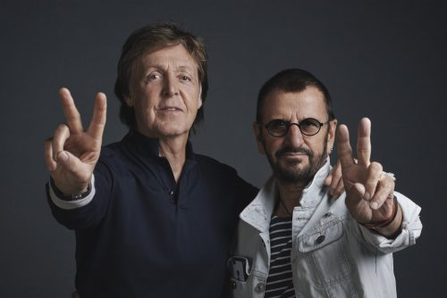 """Paul McCartney and Ringo Starr photographed at a promotional day at Abbey Road Studios on Wednesday 14th September on the eve of the cinematic release of the new Ron Howard documentary """"The Beatles: Eight Days A Week - The Touring Years"""".  The pair will attend The World Premiere in London's Leicester Square on Thursday 15th September. The film also opens worldwide on the same date."""