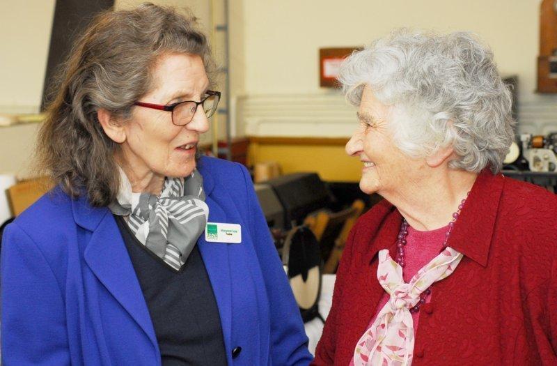 Margaret Sale with Colossus veteran Irene Dixon