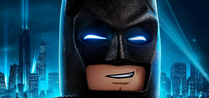 Kick brick with LEGO Batman