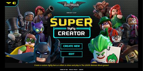 Batman super sigfig creator