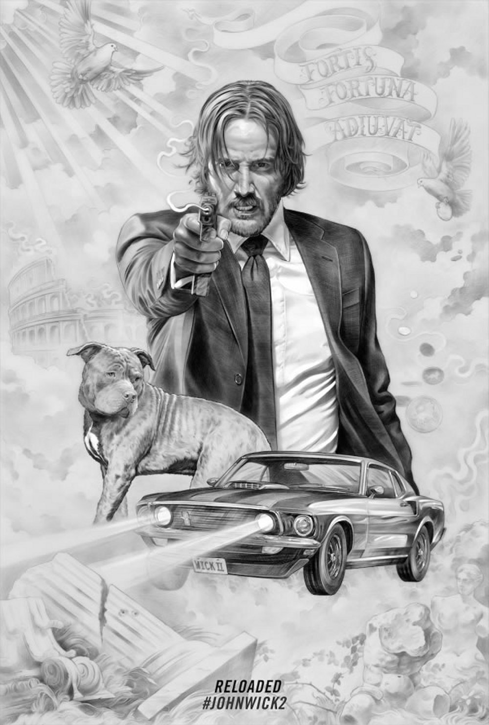 John Wick Chapter Two – Illustrated Poster1
