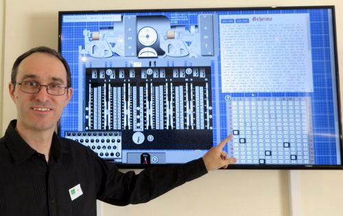 Martin Gillow with his creation of a Virtual Lorenz