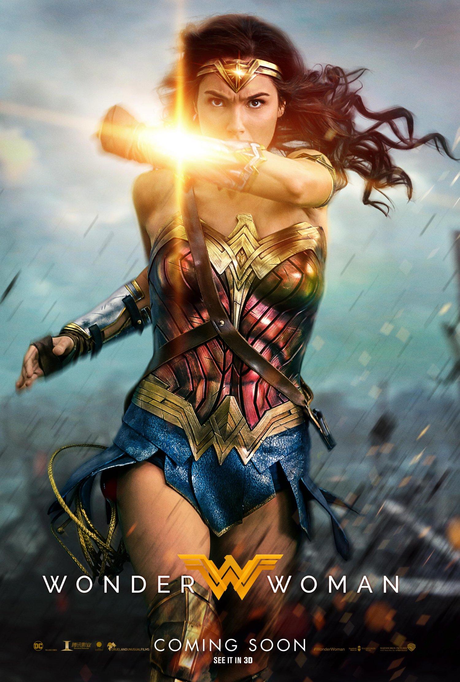 Wonder Woman Deflection Poster