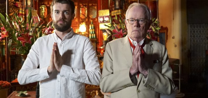 Jack Whitehall & his father on holiday