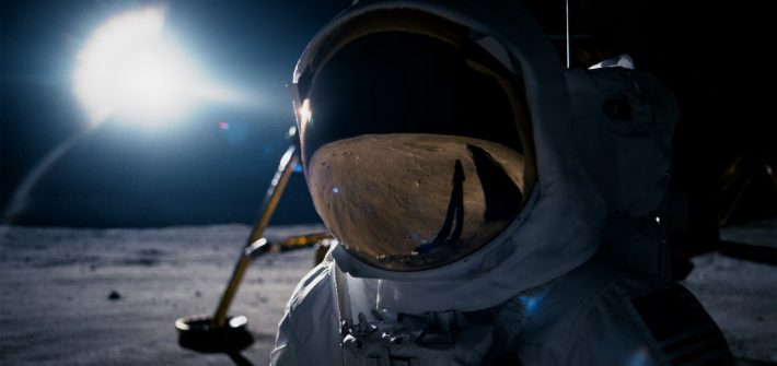 How did Neil Armstrong get to the moon?