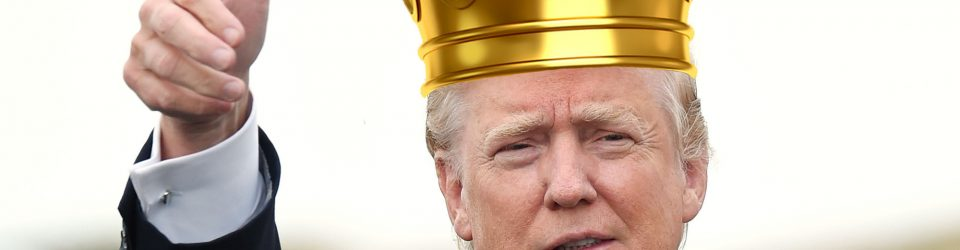 King Donald and his dog