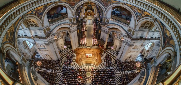 Film and TV stars come together for magical carol concert at St. Paul's Cathedral for Cancer Research UK