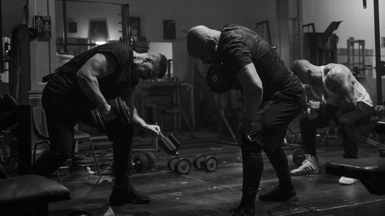 Craig Fairbrass and Cavan Clerkin in Muscle