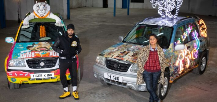 NETFLIX partners with British Asian artists INKQUISITIVE and CHILA KUMARI BURMAN to create SUV installations inspired by THE WHITE TIGER