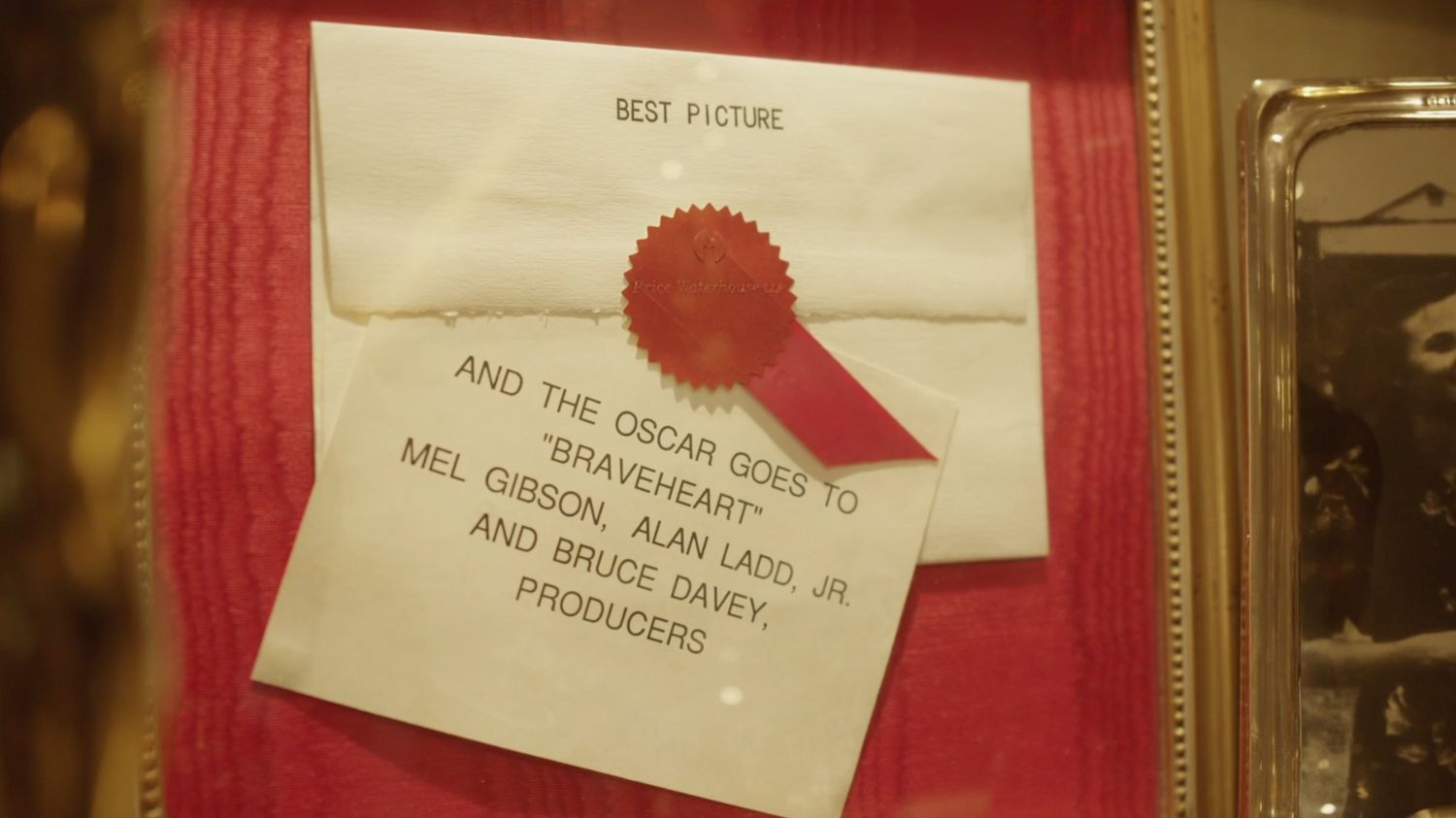 Close up of Best Picture Envelope