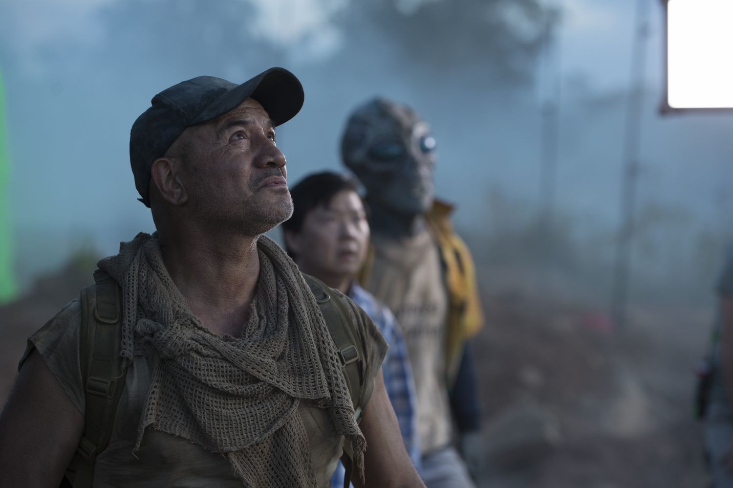 Temuera Morrison, Ken Jeong and Jason Isaacs in Occupation Rainfall