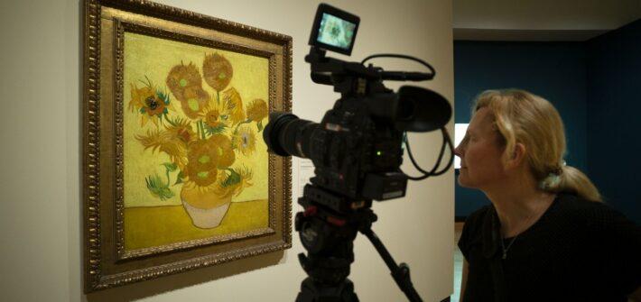 What is behind Van Gogh's Sunflowers?